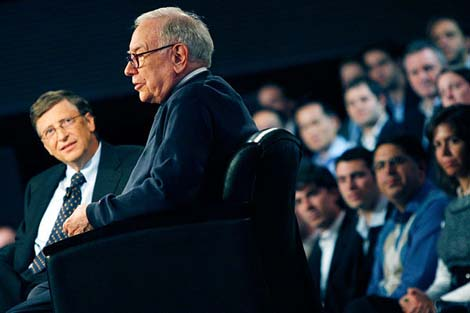 Билл Гейтс и Уоррен Баффет.